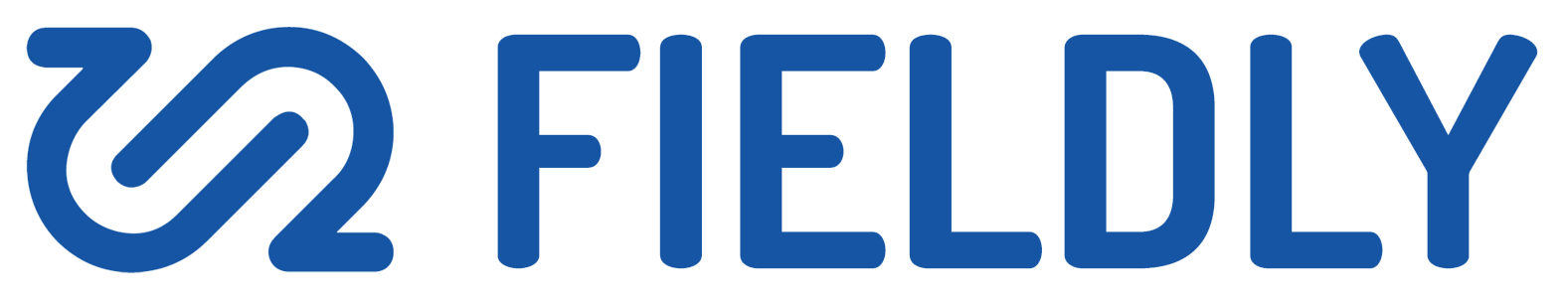 Fieldly logo in blue